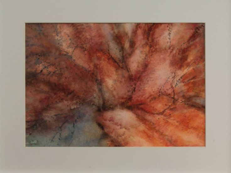 Light Through the Red Branches I 2015 30 x 21 cm Watercolour on cotton paper 300 g  luigibarra.blogspot.it