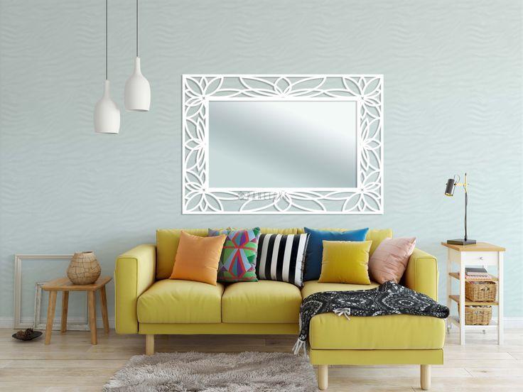 """Ażurowa rama (panel) do lustra """"Lotos"""" o wymiarze 131x91 cm"""