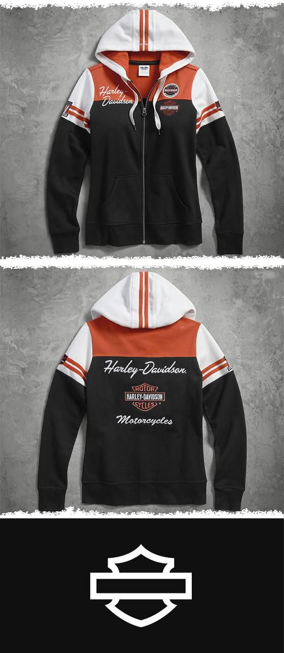 A classic stands the test of time. | Harley-Davidson Women's Classic Colorblock Hoodie