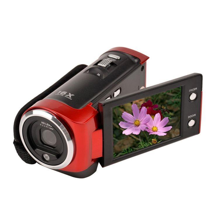 Ckeyin ® 16MP HD Digitale DV Videocamera Video Camcorder AV Macchina Fotografica Elettronico Anti-shake TFT LCD Schermo 16X Zoom max 32GB Rosso: Amazon.it: Elettronica