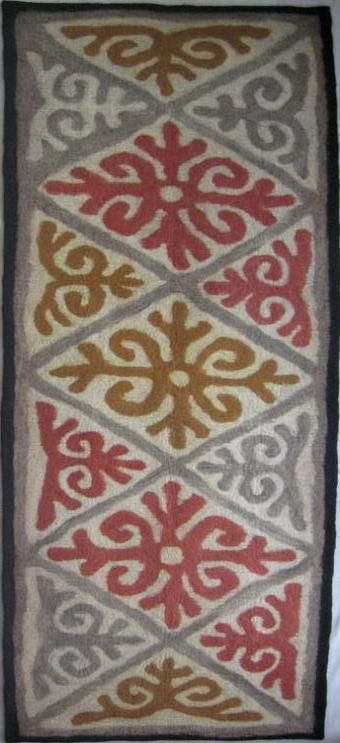 Ala kiyiz - felt rug. 100% sheep wool. Solid felted, seamless. Handmade in Kyrgyz Republic.