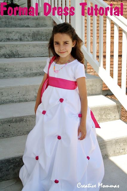 Creative Mommas: Little Girl Formal Dress Tutorial