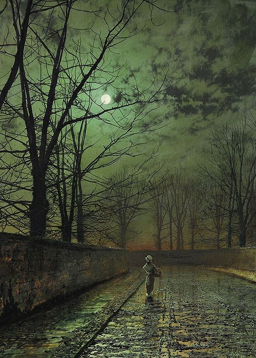 Silver Moonlight by John Atkinson Grimshaw, 1880.