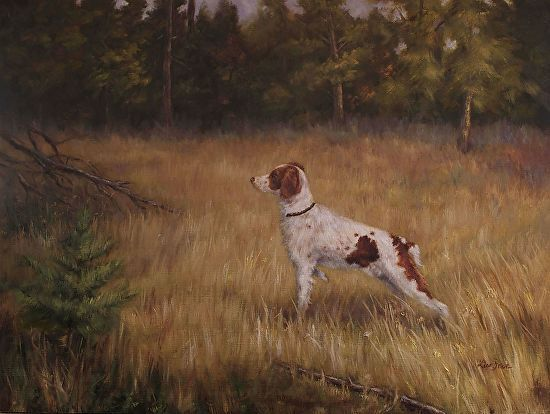 Born To Hunt by Lisa Price Oil ~ 18 x 24