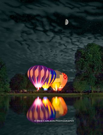 Hot Air Balloon Night Glow ~ Albany, New York www.facebook.com/loveswish