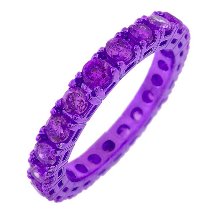 anello viola con zirconi viola