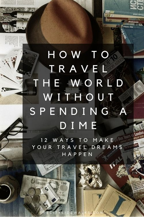 Travel the world without going broke. This is the first blog I've seen to have some decent ideas.