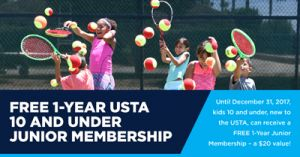 FREE 1 Year Junior Membership to US Tennis Association on http://hunt4freebies.com