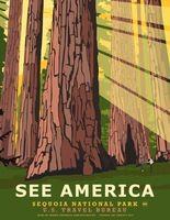 СЕКВОЙЯ НАЦИОНАЛЬНЫЙ ПАРК США БЮРО ПУТЕШЕСТВИЙ УВИДЕТЬ Пейзаж Искусство Урожай…