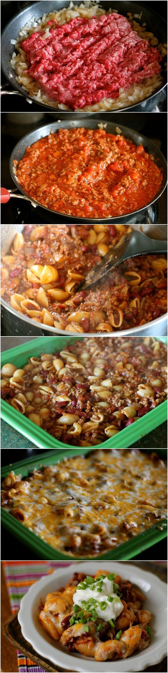 Chili Pasta Bake. Made this tonight and it was good. I doubled the recipe and it fed six of us stuffed, and there was plenty left over for lunch for tomorrow. Next time I will use plain or garlic tomatoes because the family don't care for spicy like I do, and the green chilies were too much for them. Everyone else loved it otherwise.