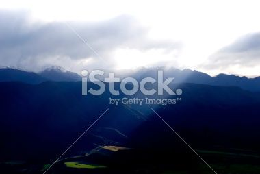 Ray of Light, Golden Bay, Tasman Region, New Zealand Royalty Free Stock Photo