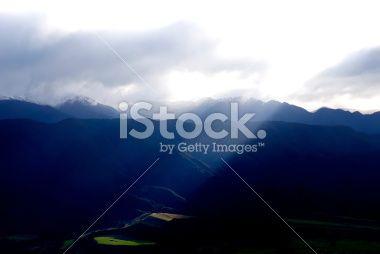 Ray of Light, Golden Bay, Tasman Region, New Zealand Royalty Free Stock Photo