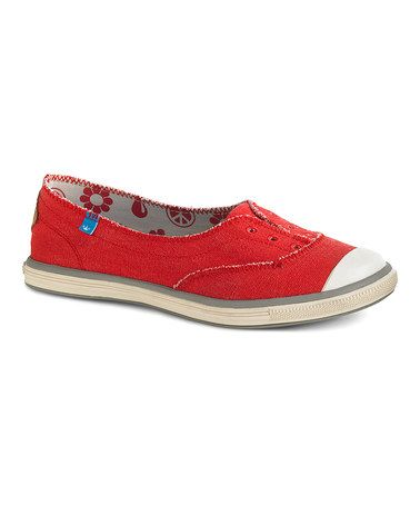 Red Freckle Slip-On Sneaker by Freewaters #zulily #zulilyfinds