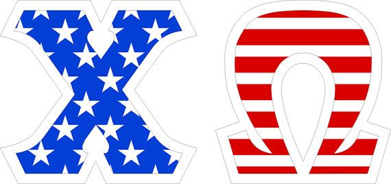 Chi Omega Flag Giant Greek Letter Sticker on sale for $9.95! Measures 4 - You'll find the best selection & lowest prices on greek stickers and decals at Greek Gear