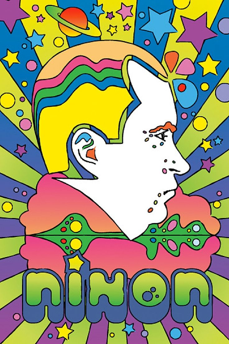 Richard Nixon by Peter Max | Peter Max- The King of Psychedelic Art