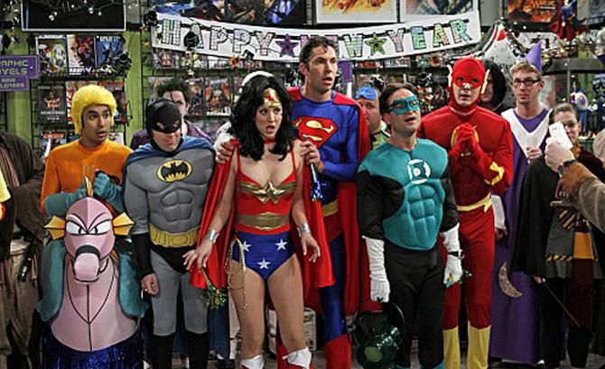 The Big Bang Theory as superheroes
