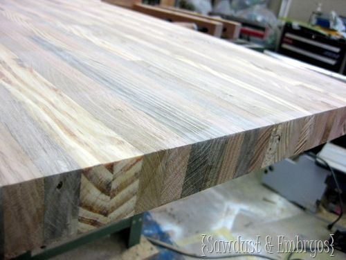 Building your own Butcher Block Counter {Tutorial by Sawdust and Embryos}