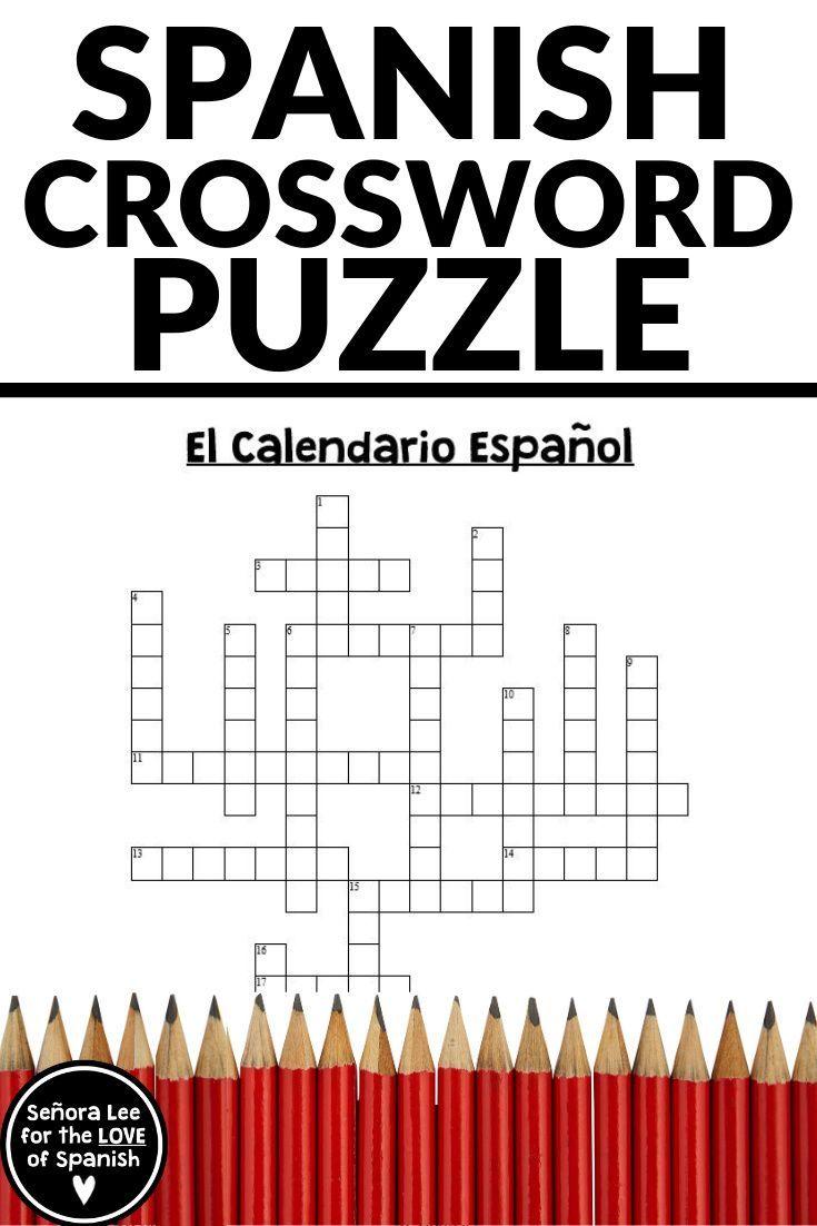 Spanish Worksheet Spanish Days Of The Week Months Spanish Crossword Learning Spanish Vocabulary Dictionary Skills Spanish Lesson Plans [ 1102 x 735 Pixel ]