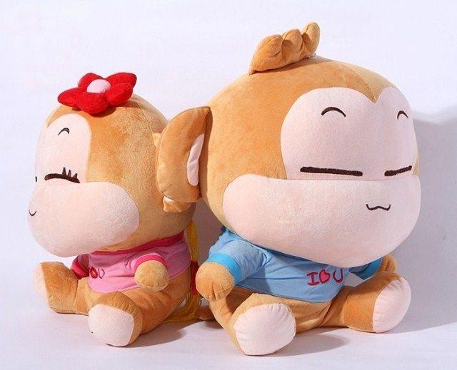 32 см прекрасный обезьяна плюшевые игрушки любит йо-йо и cici обезьяны куклы бросок, Один комплект / 2 шт. игрушки подарок на день рождения w6118