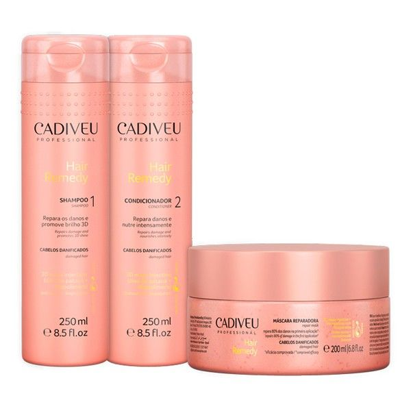 Cadiveu - Kit Hair Remedy - Shampoo, Condicionador e Máscara :: For You Cosméticos