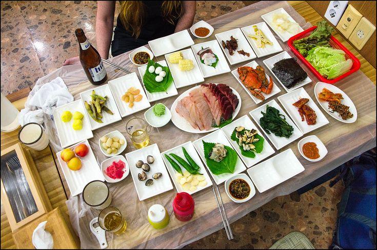 Korean Banquet - Yeosu, Korea
