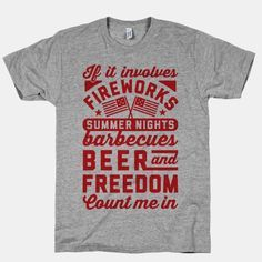This cool summer party shirt is perfect for backyard cookouts, celebrating freedom, and having an amazing Fourth of July.
