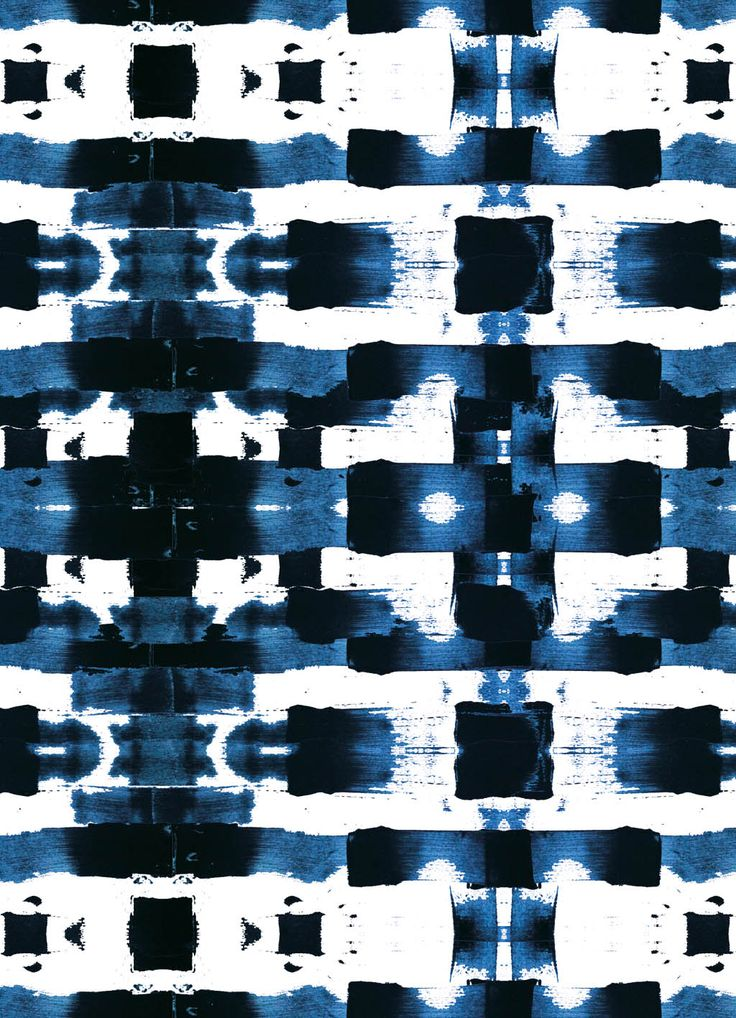 Streifen Batik in blau