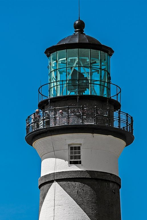 the top of the fifth Lighthouse I got to see - weeks ago...Cape Lookout Lighthouse, Core Banks Island, NC :)