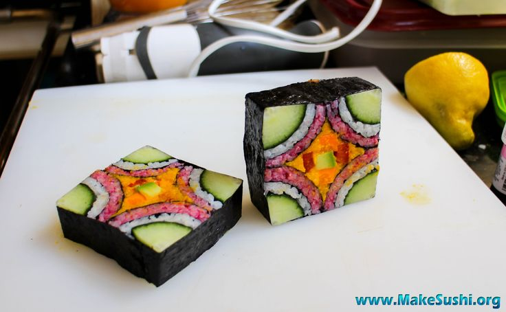 Mosaic sushi roll 2.0  prototype sushi roll (still in development)