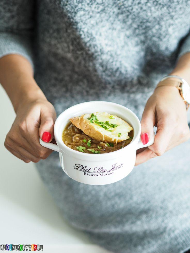 Przepis na zupę cebulową z grzanką :)