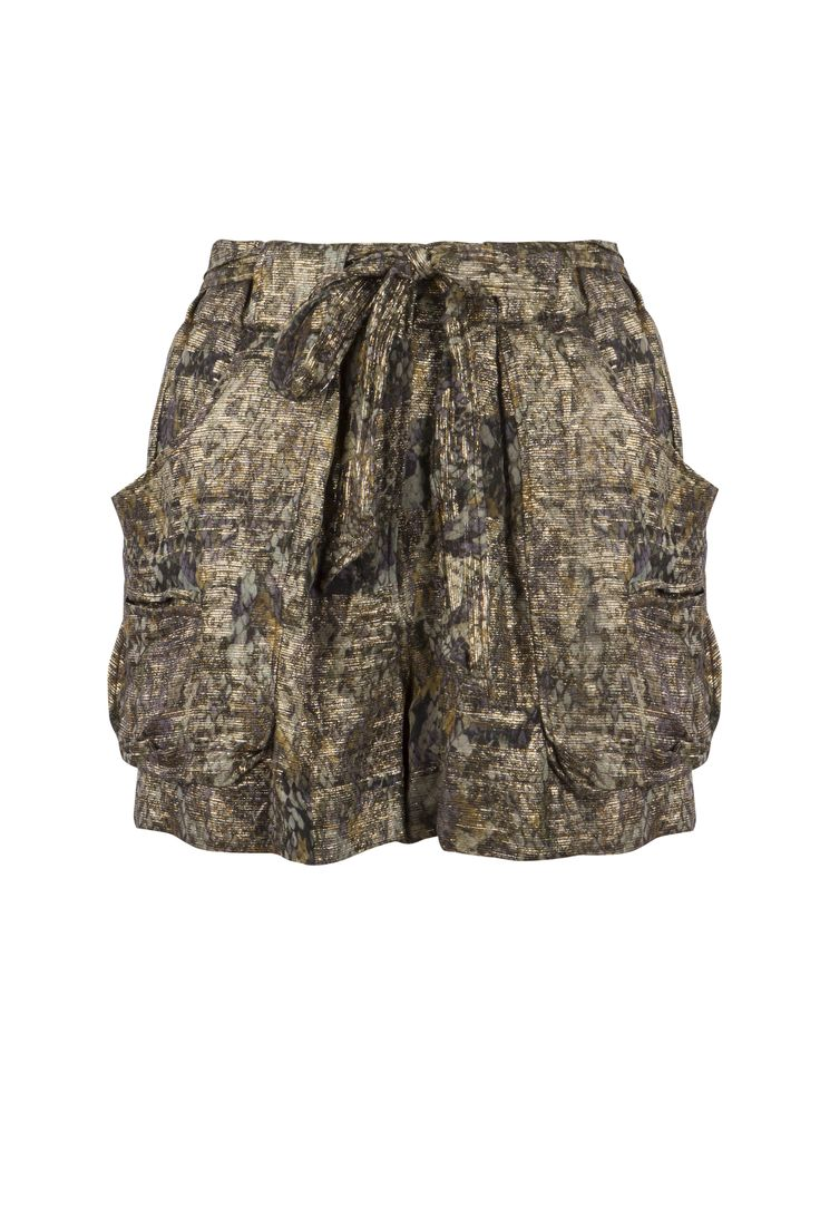 These lame shorts for Isabel Marant would look so chic with a sweater and ankle boots! Available in the Women's Designer section at Harvey Nichols - Dubai.