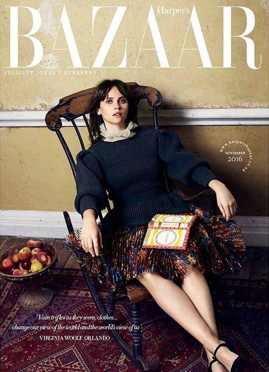 Felicity Jones by David Slijper for Harper's Bazaar UK November 2016 Cover