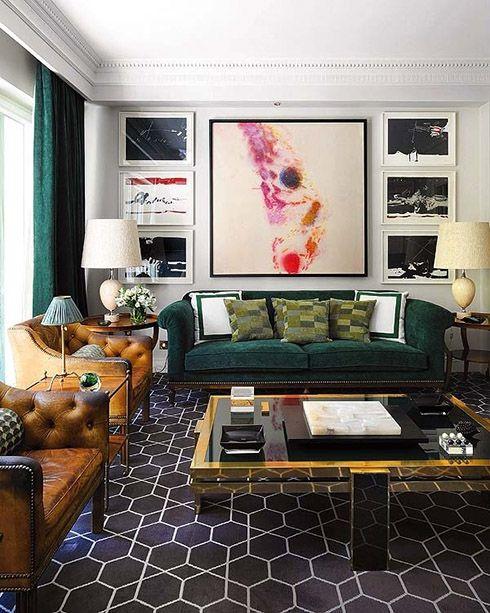 That Dark Green Sofa. That Gray/charcoal Geometric, Flatweave Rug, Part 68