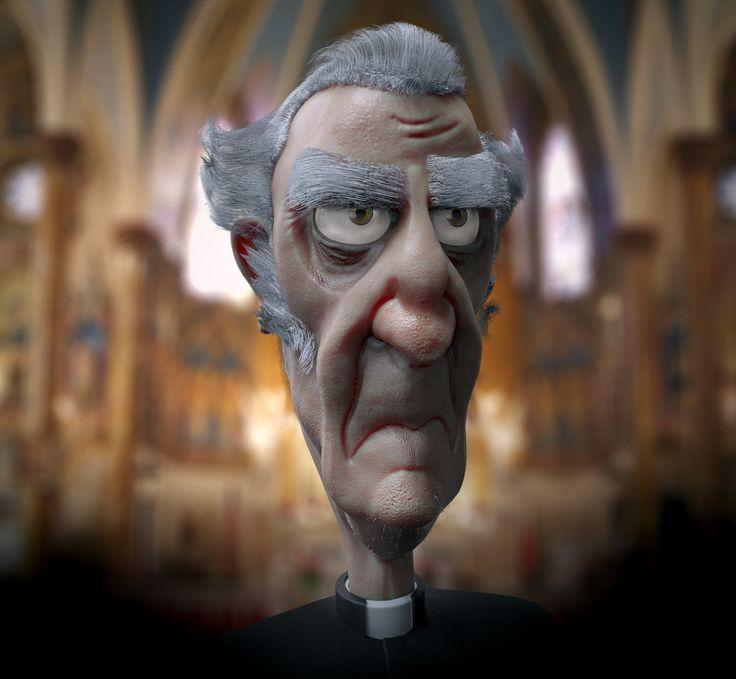 Old Priest, Carmine Napolitano on ArtStation at http://www.artstation.com/artwork/old-priest