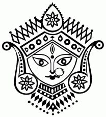 Coloring pages for Durga Puja | Hindu Mommy