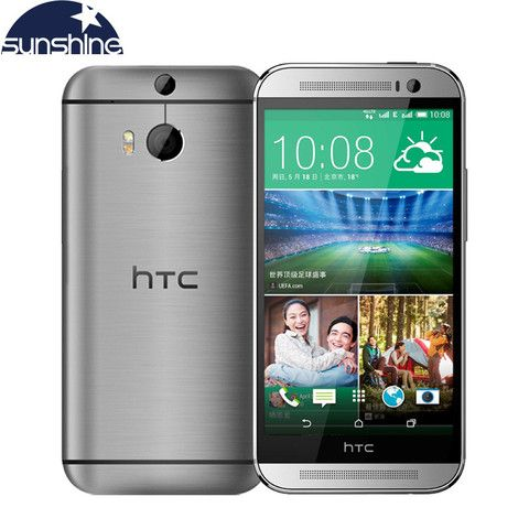 "Unlocked Original HTC One M8 Mobile Phone 5"" Qualcomm Quad core 2G RAM 16GB ROM Refurbished Phones 3 Cameras WCDMA Cell Phones"