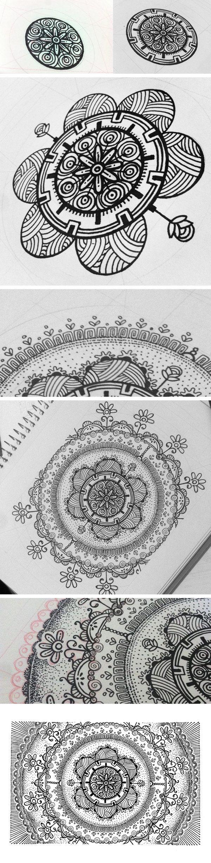 Such beautiful detail, Zendala by Henrique Abreu, via Behance