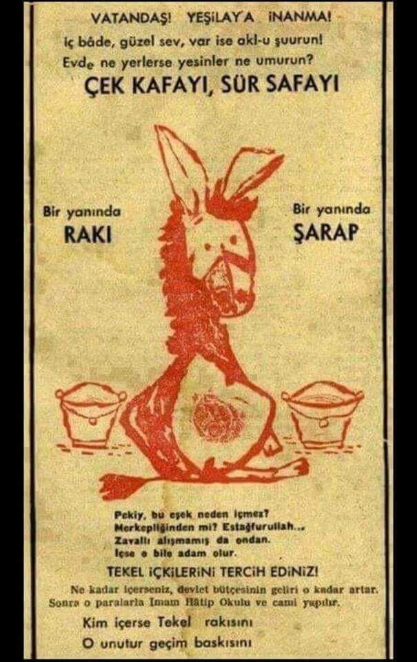 1951 Tekel - Çek kafayı, sür sefayı... Bir yanında rakı, bir yanında şarap...