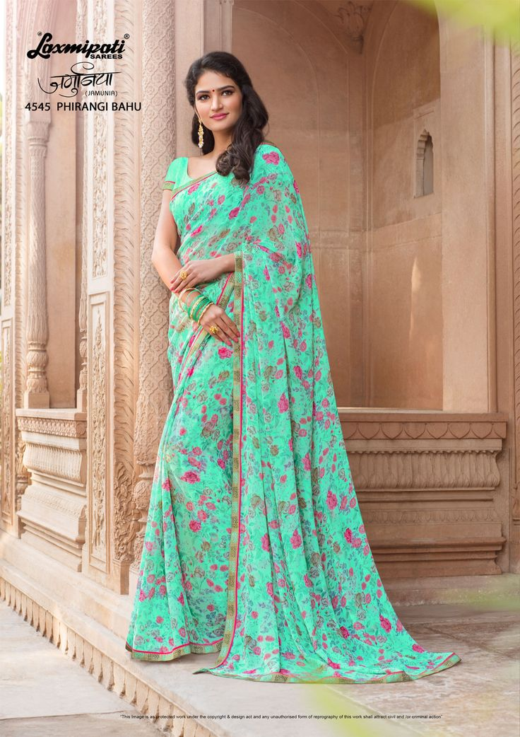 Buy this Delightful Sea Green #Casual_Wear #Georgette_Saree and Sea Green Georgette Blouse along with Rawsilk Lace Border from Laxmipati Saree. #Catalogue #JAMUNIA #DesignNumber: 4545 #Price - ₹ 1525.00  #Bridal #ReadyToWear #Wedding #Apparel #Art #Autumn #Black #Border #MakeInIndia #CasualSarees #Clothing ‪#ColoursOfIndia ‪#Couture #Designer #Designersarees #Dress #Dubaifashion #Ecommerce #EpicLove ‪#Ethnic #Ethnicwear #Exclusivedesig