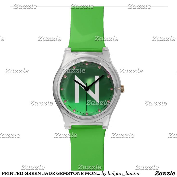 PRINTED GREEN JADE GEMSTONE MONOGRAM WRISTWATCHES #gemstones #fashion #watch #accessory #gems #3d #geek #tech #jewel