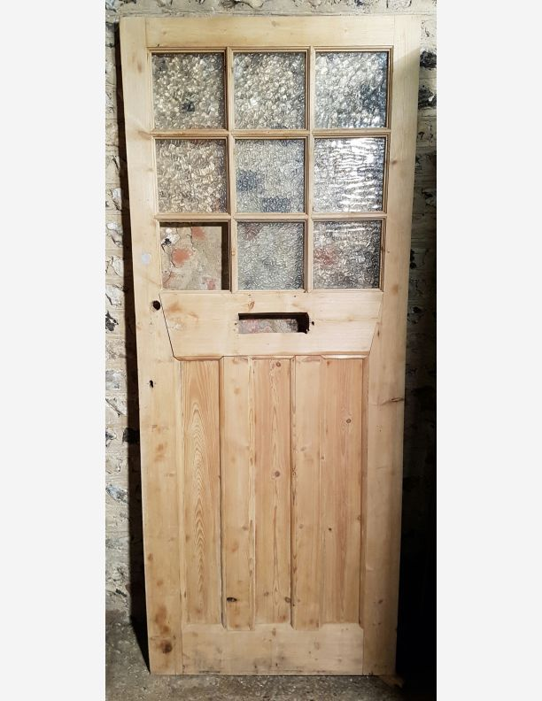 period front door stripped pine ready for painting this door has very strong and attractive gun stock stiles making for a very elegant front door