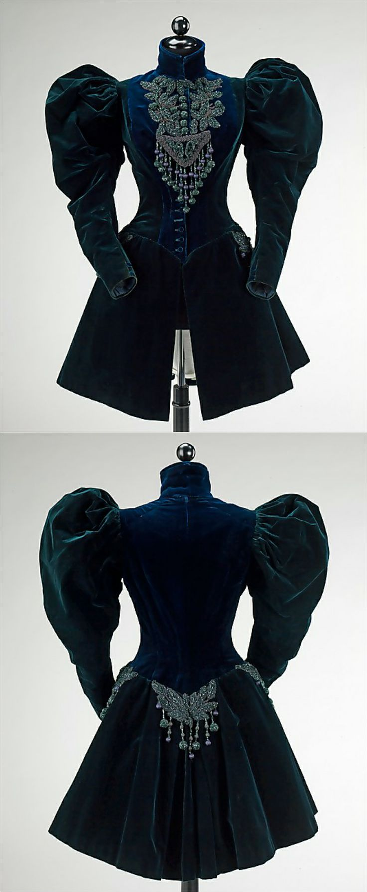 Afternoon jacket, Augustine Martin & Company, 1895, at the Met. See: http://www.metmuseum.org/collections/search-the-collections/159237?img=0