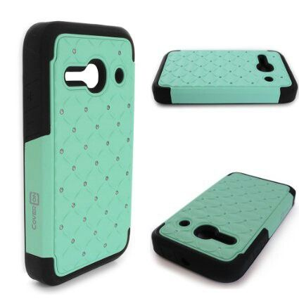 Black and mint green phone case for Alcatel One touch evolve 2