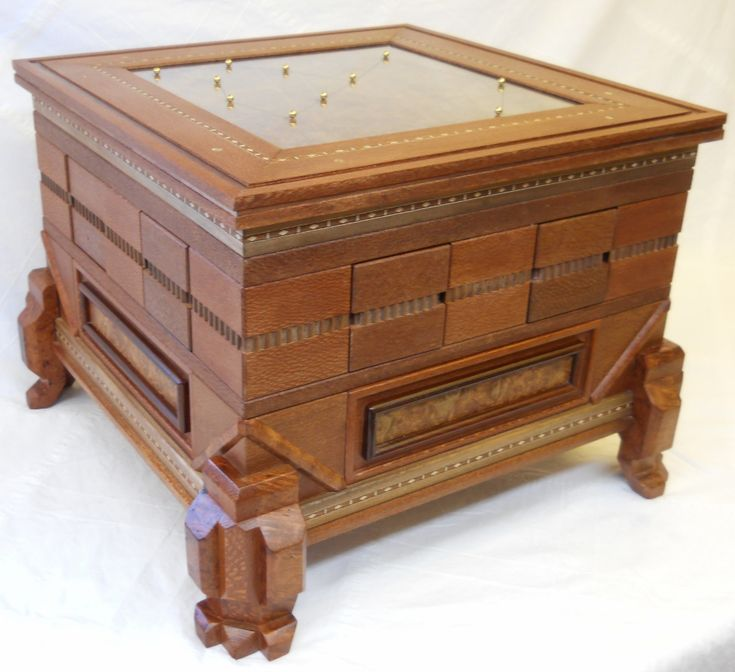Coffee Table With Gun Drawer Plans: 122 Best Images About Puzzle Boxes On Pinterest