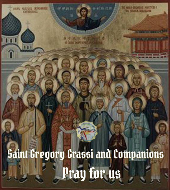 Saint of the Day #kabataangkatoliko  July 8 - Saint Gregory Grassi and Companions  Saint Gregory Mary Grassi O.F.M. (13 December 1833  9 July 1900) was an Italian Franciscan friar and bishop who is honored as a Roman Catholic martyr and saint. He is one of the 120 Martyrs of China who were canonized on October 1 2000 by Pope John Paul II.  St. Gregory Grassi and Companions' Story  Christian missionaries have often gotten caught in the crossfire of wars against their own countries. When the…