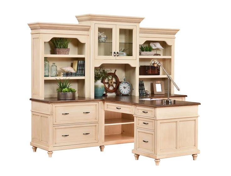 Amish Bridgeport Partner Desk with Optional Three-Piece Hutch