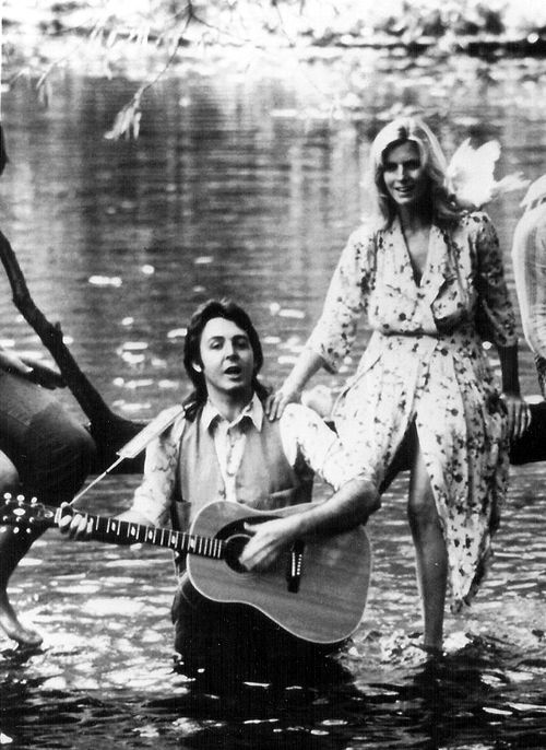 Paul & Linda McCartney, from the covershoot for Wings' debut, Wild Life, released December 1971