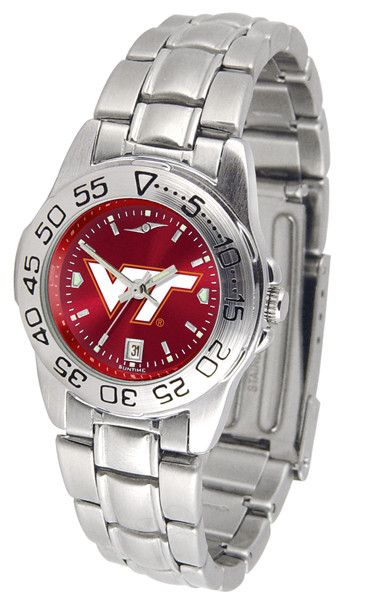 Virginia Tech Hokies Ladies Sport Steel Watch With AnoChrome Dial