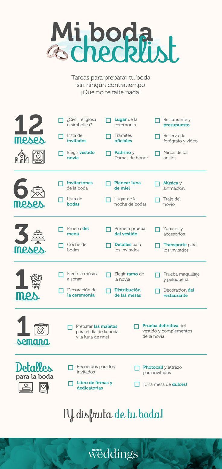 El checklist que estabas buscando para organizar tu boda