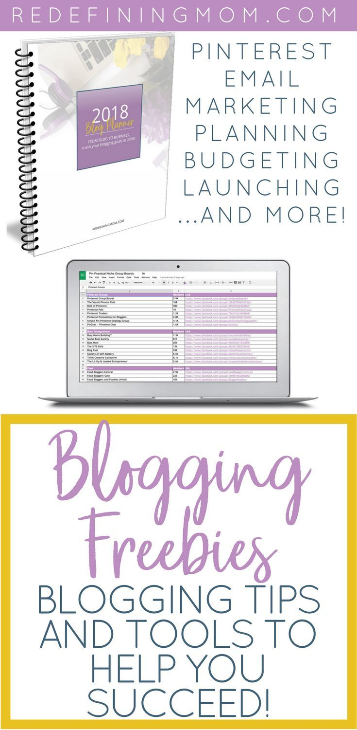 Free blogging resources to help you start a blog and make money from home. Download free tools for Pinterest, launching a product, and much more! How to start an online business, pinterest tips, how to launch a digital product, free printable blog planner via @redefinemom